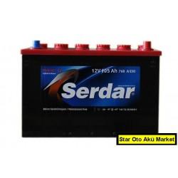 Serdar Akü Fiyatları - 105 Amper Serdar Akü